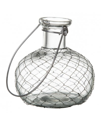 Vase à suspendre verre et...