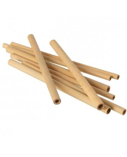 Boîte de 8 pailles en bambou